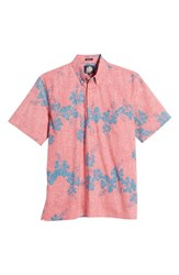 Reyn Spooner 50Th State Button Down Polo Pink