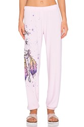 Lauren Moshi Tanzy Large Moon Dreamcatcher Sweatpant Pink