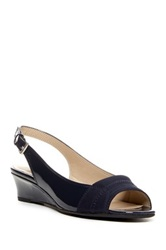 Ellen Tracy Jack Wedge Sandal Blue