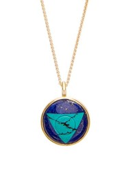 Noor Fares Vishuddha Lapis Turquoise And Gold Necklace Blue