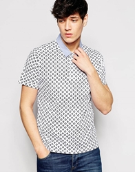 Another Influence Patterned Polo Shirt White