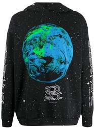 Christopher Kane Ecosexual World Print Hoodie Black