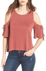 Women's Bp. Cold Shoulder Tee Pink Desert