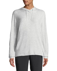 Blanc Noir Clandestine Hooded Open Elbow Pullover Sweater Light Gray