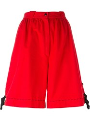 Thierry Mugler Vintage Wide Leg Shorts Red