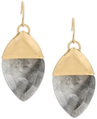 Kenneth Cole New York Colored Geometric Stone Drop Earrings Gold