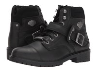 Harley Davidson Bowers Black Lace Up Boots