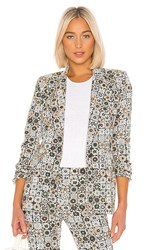 Smythe Lounge Blazer In Green. Graphic Floral