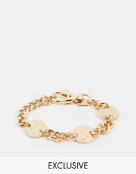 Chained And Able Coin Link Bracelet Gold