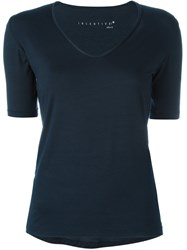 Incentive Cashmere V Neck T Shirt Blue