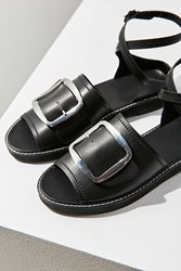Urban Outfitters Marion Buckle Ankle Wrap Sandal Black