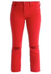 Mother Bootcut Jeans Blow Out Firecracker Red