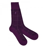London Sock Company Ottaway Purple