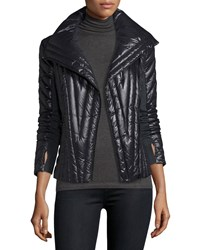 Blanc Noir Motion Paneled Puffer Jacket Black Charcoal Heather Black Charcoal He