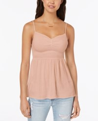 Almost Famous Juniors' Smocked Cami Top Blush