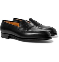 Edward Green Piccadilly Leather Penny Loafers Black