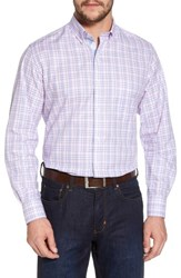 Tailorbyrd Barry Regular Fit Plaid Sport Shirt Pink