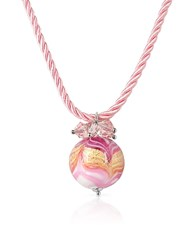 House Of Murano Mare Pink Glass Ball Pendant Necklace