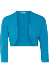 Oscar De La Renta Wool And Silk Blend Jacket Azure