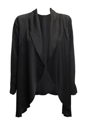 Feverfish Asymmetric Waterfall Jacket Black