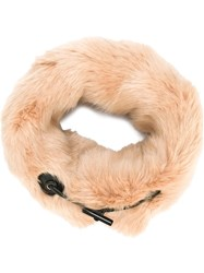 Carven Fur Effect Collar Scarf Nude And Neutrals