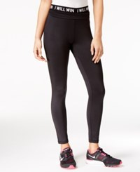 Energie Active Juniors' Hallie Graphic Leggings Caviar