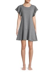 Lord And Taylor Roundneck Shift Lounge Dress Dark Heather