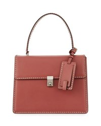 Valentino Rockstud Top Handle Satchel Bag Red