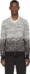 Cnc Costume National Grey And Black Ombre Cardigan
