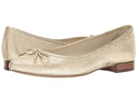 Anne Klein Ovi Light Gold Leather Women's Flat Shoes