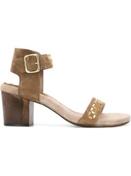 Calleen Cordero Cube Heel Sandals Brown