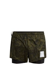 Satisfy Short Distance 3 Shorts Green Multi