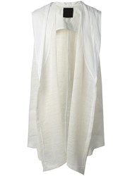Lost And Found Ria Dunn Sleeveless Cardigan White