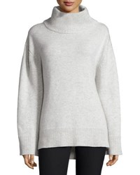 Rag And Bone Phyllis Long Sleeve Melange Wool Blend Sweater Light Gray Light Grey