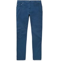 Hackett Trinity Stretch Cotton Twill Trousers Petrol