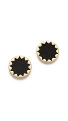 House Of Harlow 1960 Sunburst Button Earrings Black
