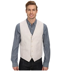 Perry Ellis Linen Suit Vest Natural Linen Men's Vest Beige