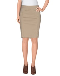 Patrizia Pepe Knee Length Skirts Beige