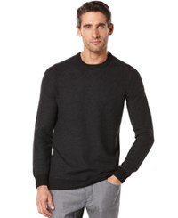 Perry Ellis Textured Crew Neck Sweater Black