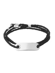 Links Of London Men S Soho Id Bracelet With Leather Cord
