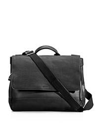 Shinola Flap Messenger Bag Black