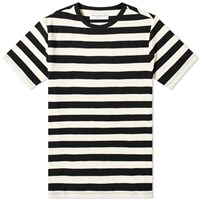 Officine Generale Stripe Tee Black