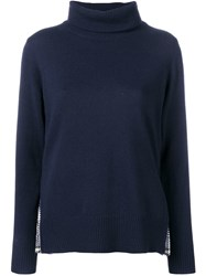 Sacai Turtleneck Jumper Blue