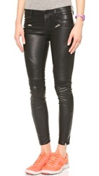 Blank Black Vegan Leather Moto Pants Daddy Soda