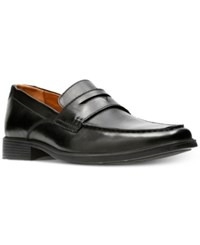 Clarks Men's Tilden Way Leather Penny Loafers Men's Shoes Black Leather