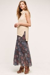 Maeve Moon Lake Maxi Skirt Black Black Motif