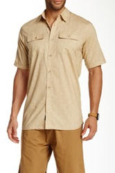 Burnside Printed Shirt Beige