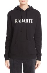 Women's Rodarte 'Radarte' Metallic Foil Hooded Sweatshirt
