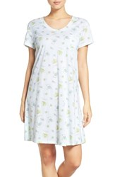 Carole Hochman Women's Print Cotton Sleep Shirt Flower Toss