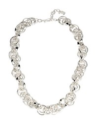 Robert Lee Morris Cool As Ice Multi Circle Link Necklace Silver